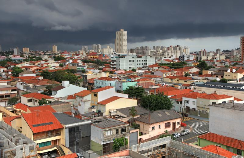 圣卡埃塔诺在巴西做sul城市 库存图片