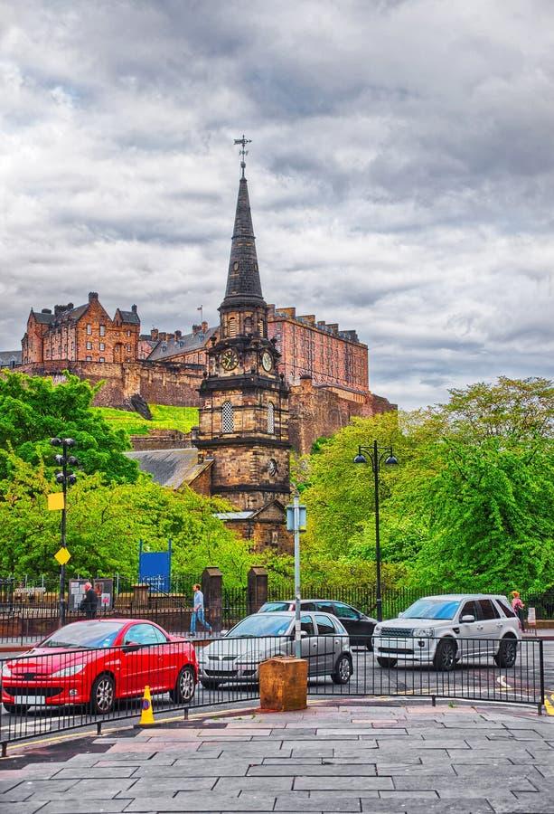 圣卡思伯特和爱丁堡城堡教区教堂  库存图片