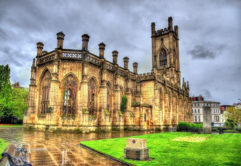 圣卢克的教会在利物浦 库存照片