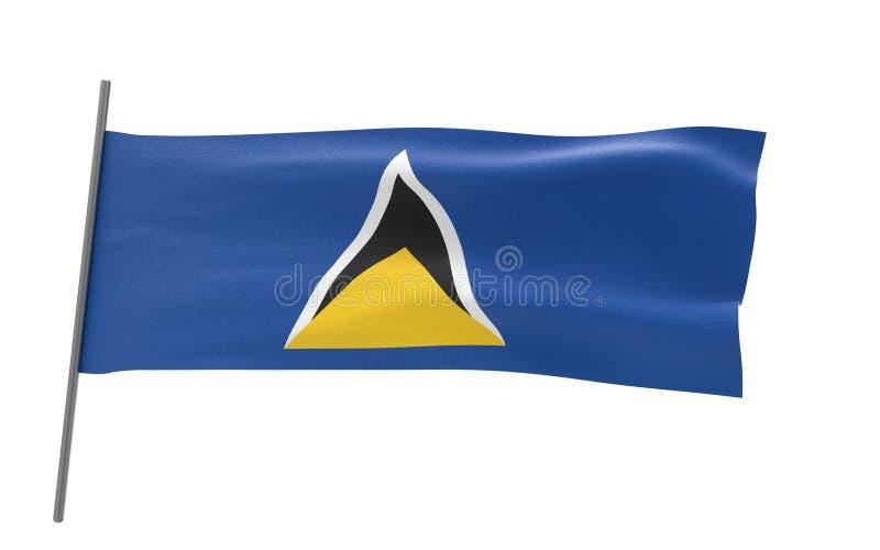 圣卢西亚的旗子 向量例证