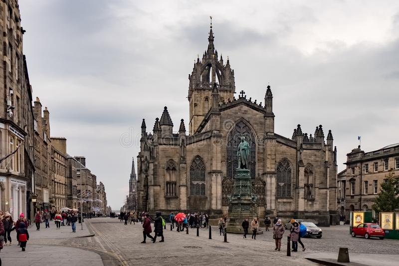 圣吉尔斯大教堂,爱丁堡,英国 免版税库存照片