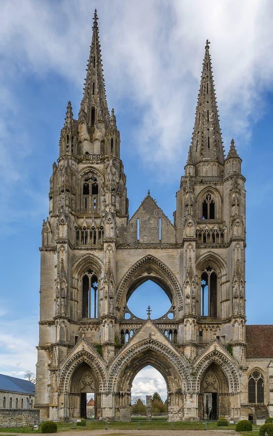 圣吉恩des维格,苏瓦松,法国修道院  图库摄影