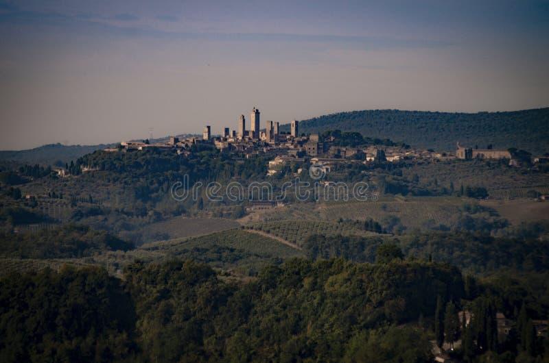 圣吉米尼亚诺联合国科教文组织世界遗产名录站点看法  库存图片