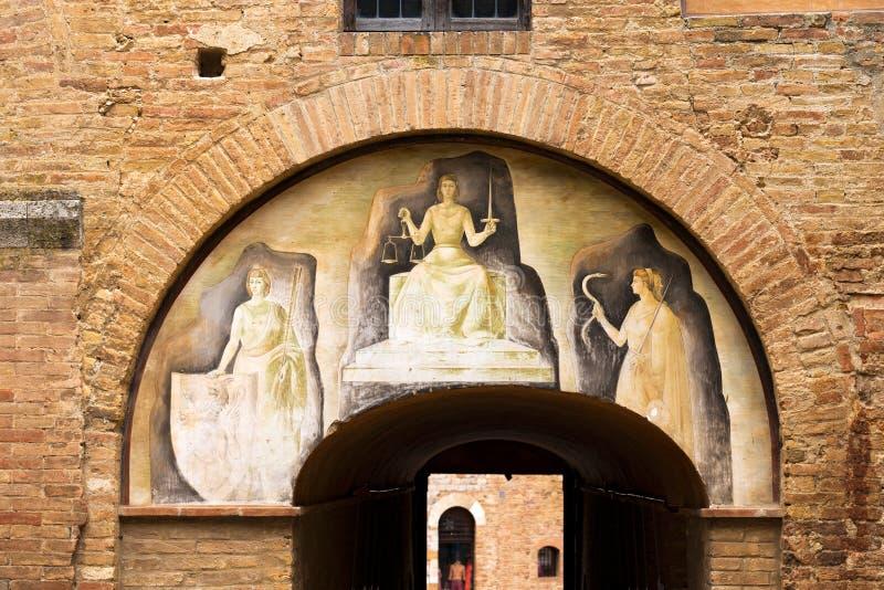 圣吉米尼亚诺-锡耶纳托斯卡纳意大利 免版税库存照片