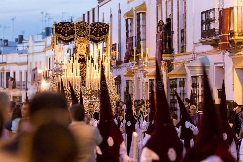 圣周复活节 马切纳塞维利亚,西班牙 免版税库存照片