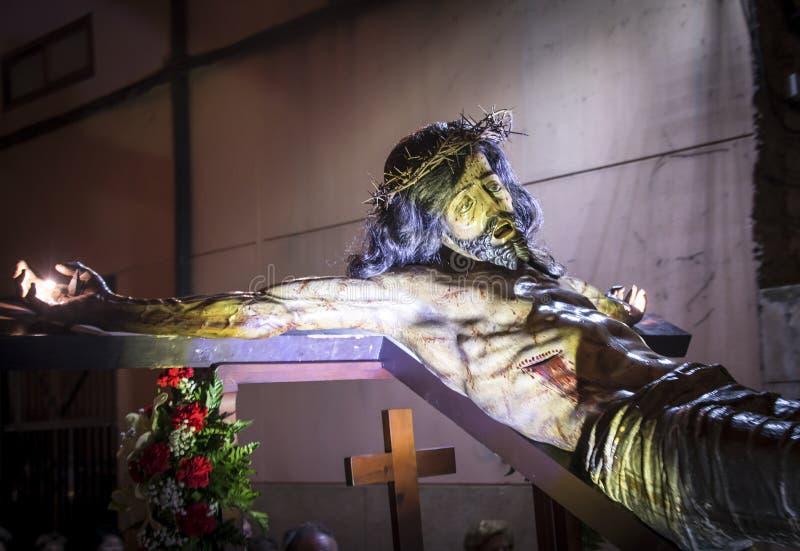 圣周, Consuelo的基督的段落队伍  免版税图库摄影