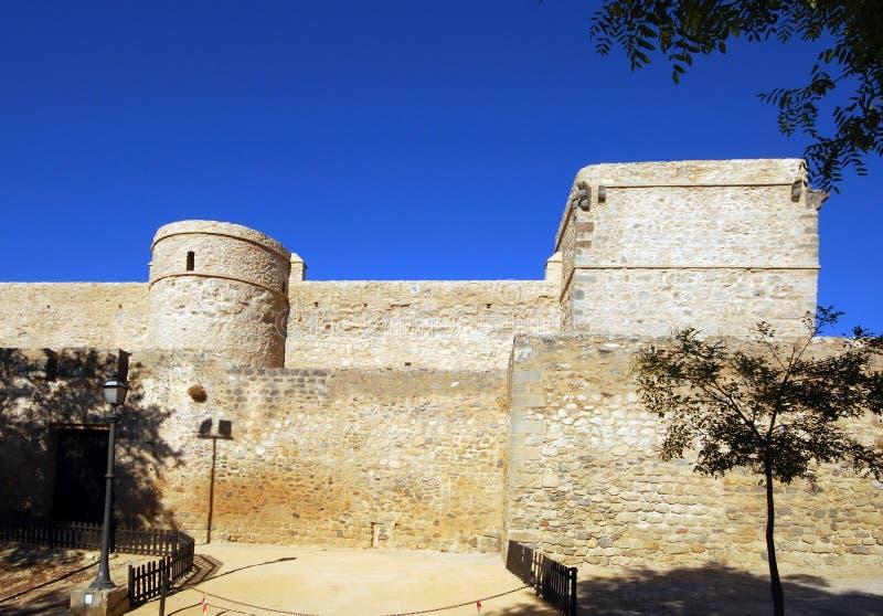 圣地亚哥城堡, Sanlucar de Barrameda 库存图片