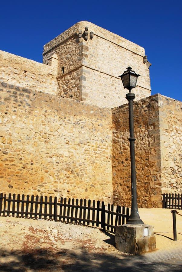 圣地亚哥城堡, Sanlucar de Barrameda 免版税库存图片