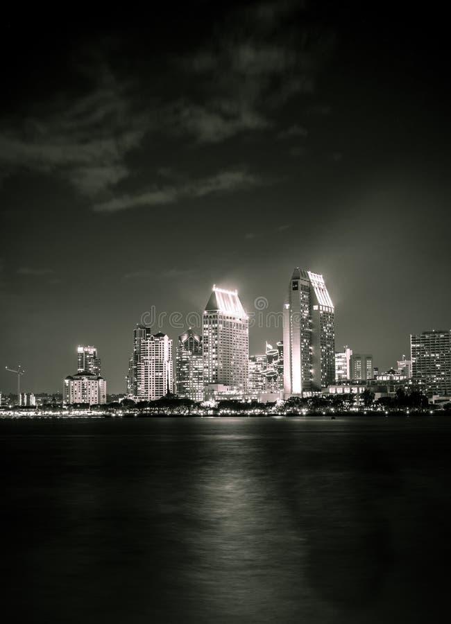 圣地亚哥夜 库存图片