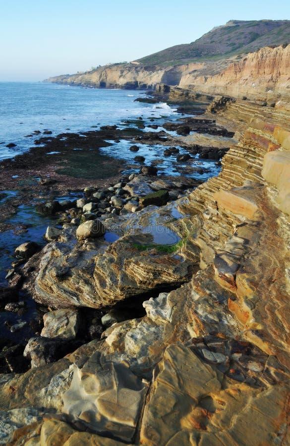 圣地亚哥岩石海岸, Cabrillo纪念碑 免版税库存图片