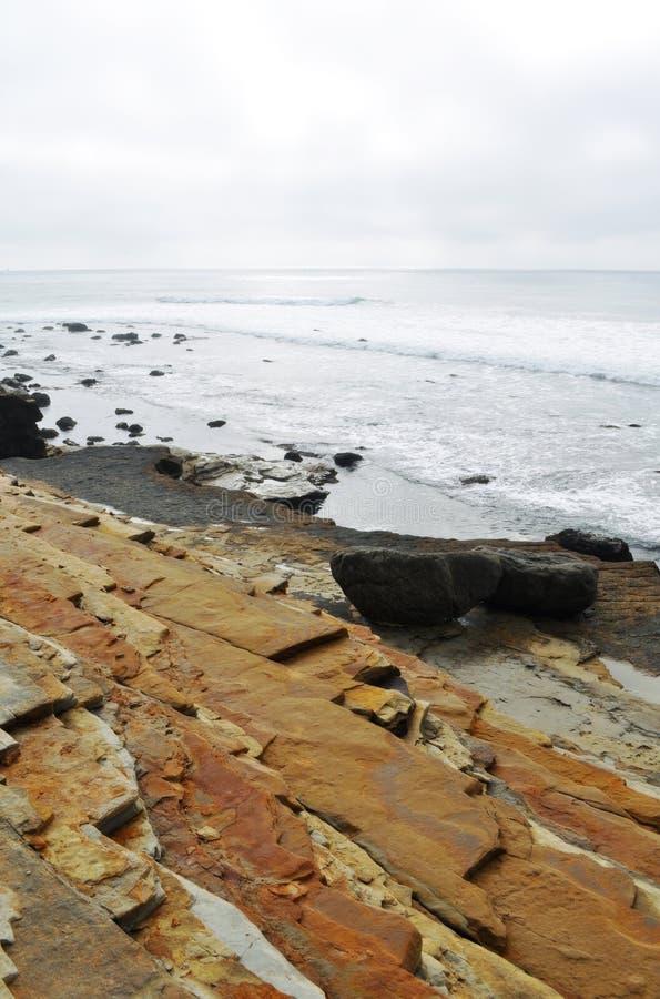 圣地亚哥海岸Tidepools 库存照片