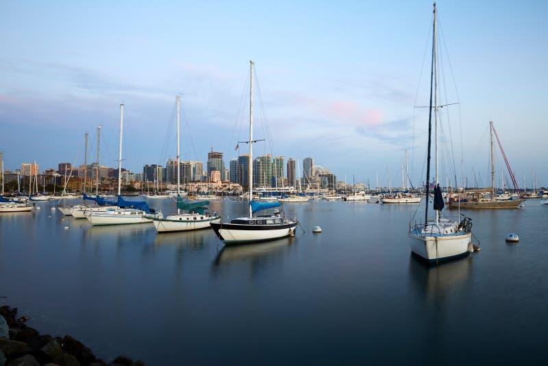 圣地亚哥海湾和地平线 免版税图库摄影