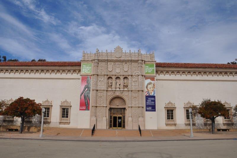 圣地亚哥艺术馆在巴波亚公园在圣地亚哥,加利福尼亚 免版税库存照片