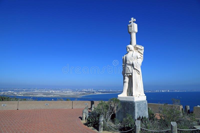 圣地亚哥,从Cabrillo国家历史文物的加利福尼亚 免版税库存照片