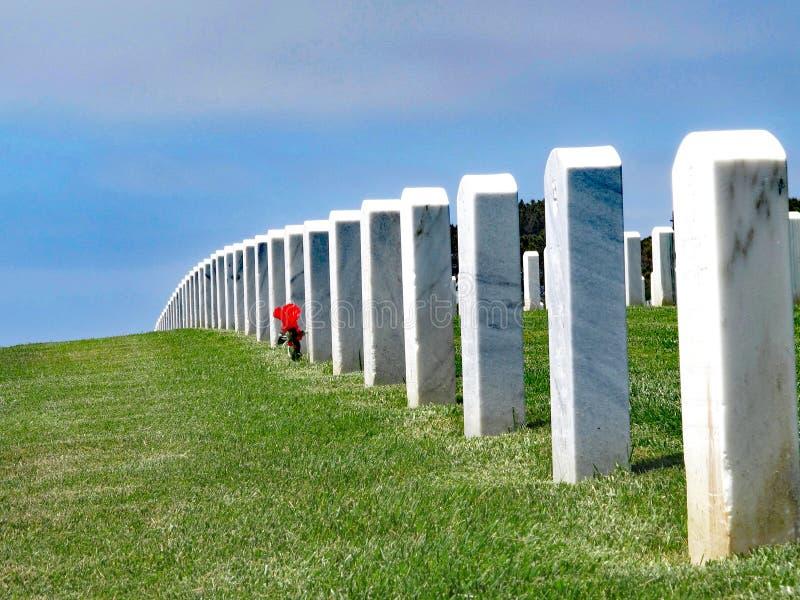圣地亚哥,加利福尼亚,美国,堡垒Rosecrans国家公墓 免版税库存照片