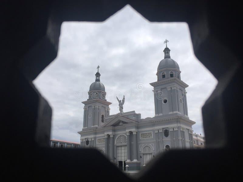 圣地亚哥,被构筑的大教堂 库存照片