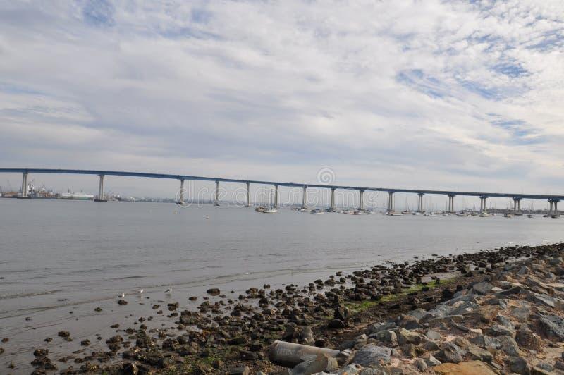 圣地亚哥-科罗纳多桥梁在加利福尼亚 库存图片