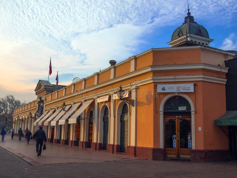 圣地亚哥主要市场  免版税库存照片