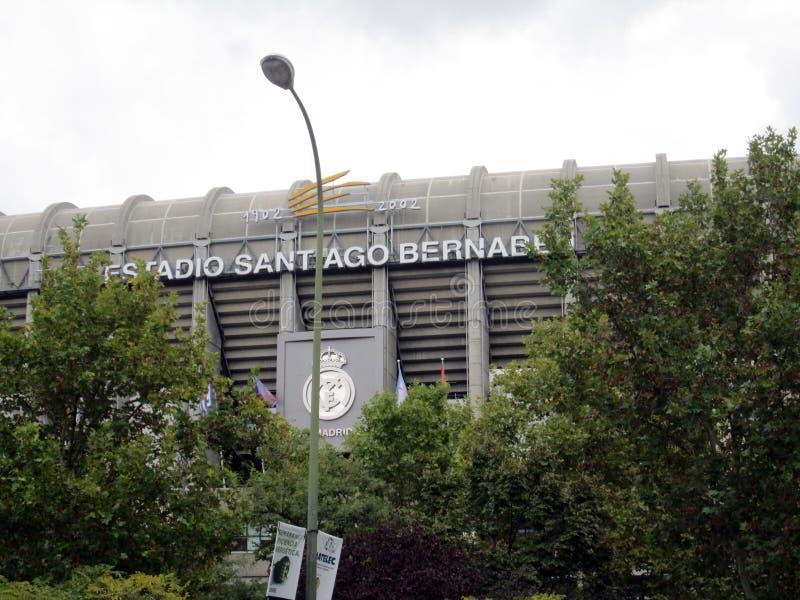 圣地亚哥Bernabéu Stadium Paseo de la Castellana西班牙欧洲 免版税库存照片