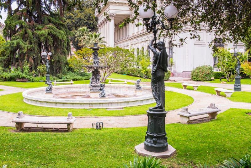 圣地亚哥de智利建筑学  免版税库存照片