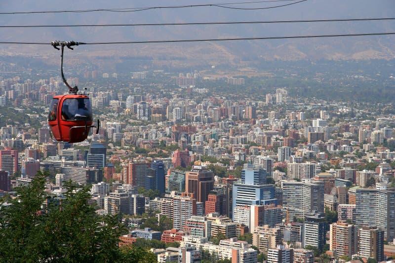 圣地亚哥de智利缆车 库存照片
