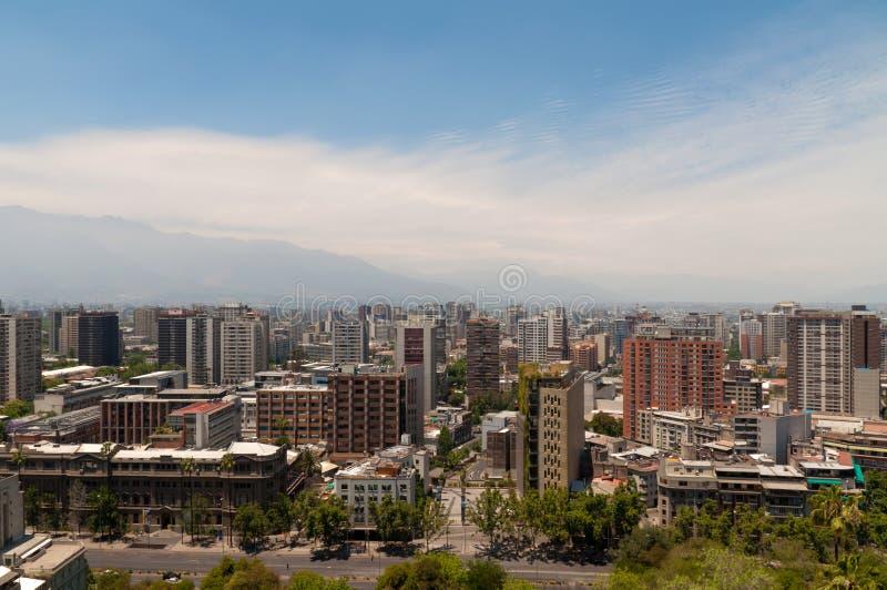 圣地亚哥de智利都市风景 库存照片