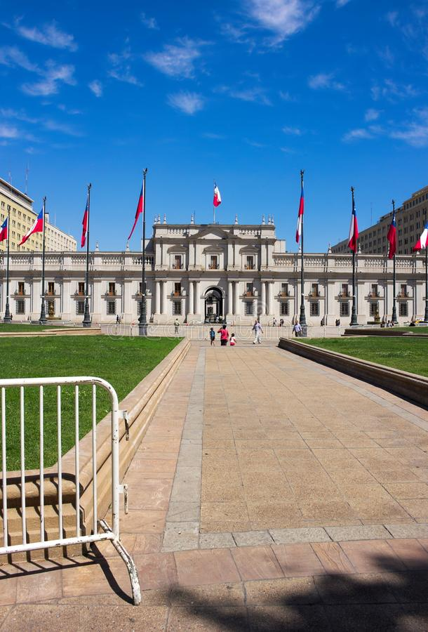 圣地亚哥de智利- La莫内达宫殿- III - 库存照片