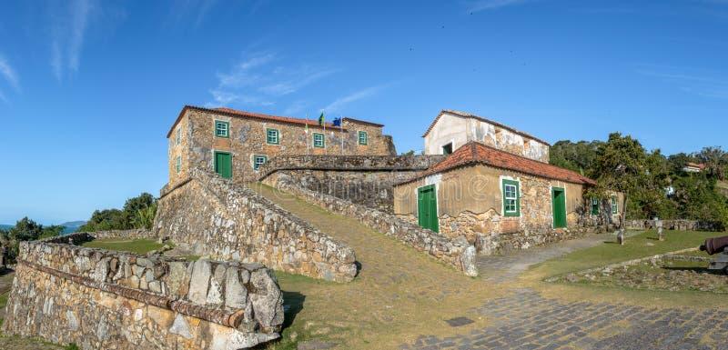 圣地何塞da Ponta Grossa堡垒-弗洛里亚诺波利斯,圣卡塔琳娜州,巴西 免版税库存图片
