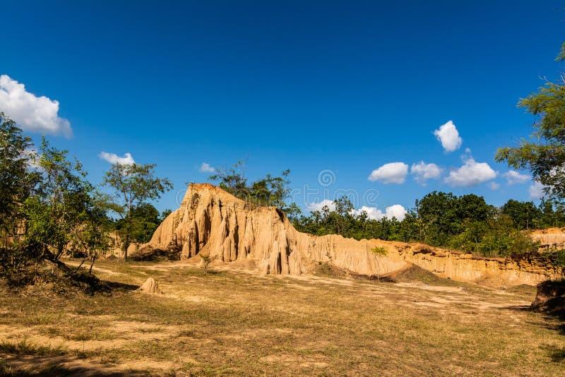 圣地声浪Nanoy,楠府,泰国土壤纹理  库存图片