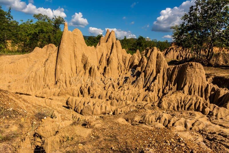 圣地声浪Nanoy,楠府,泰国土壤纹理  库存照片