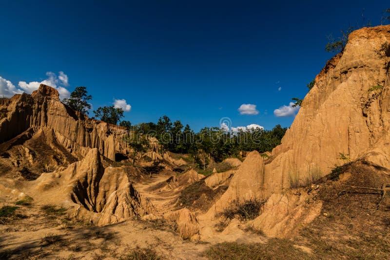 圣地声浪Nanoy,楠府,泰国土壤纹理  免版税图库摄影