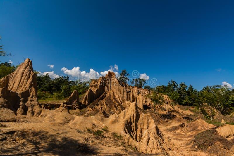 圣地声浪Nanoy,楠府,泰国土壤纹理  免版税库存照片