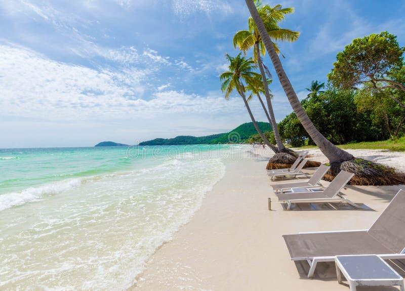 圣地海滩,富国岛/越南 免版税库存图片