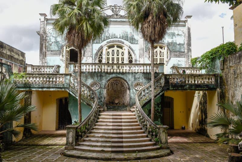 圣地的雷斯老自由房子在巴西 免版税图库摄影