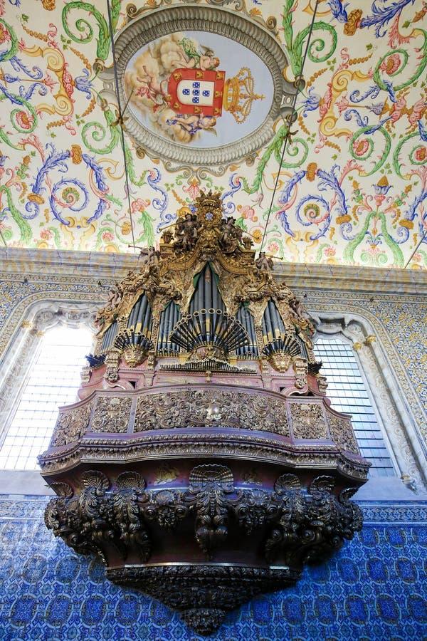 圣地科英布拉大学的米格尔教堂,葡萄牙 图库摄影