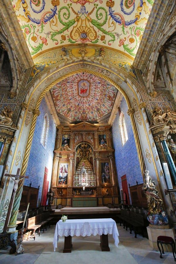 圣地科英布拉大学的米格尔教堂,葡萄牙 免版税库存照片