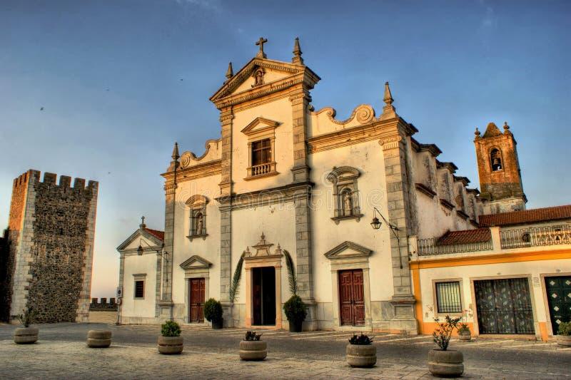 圣地蒂亚戈教会在贝娅 库存照片