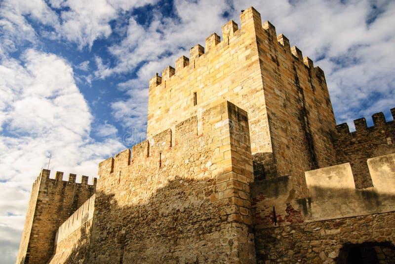 圣地豪尔赫,里斯本,葡萄牙城堡  免版税库存照片