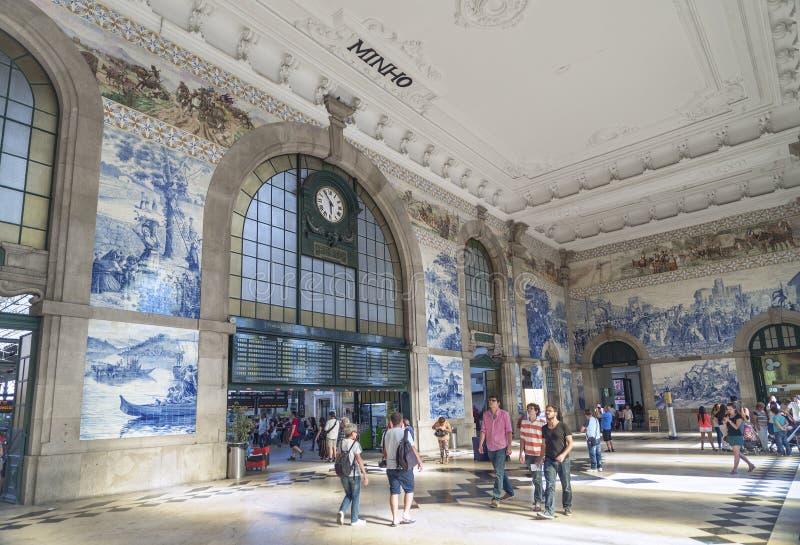 圣地bento火车站波尔图葡萄牙 免版税库存照片