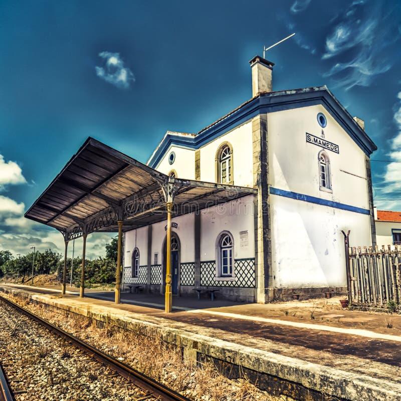 圣地Mamede火车站,葡萄牙 免版税库存图片