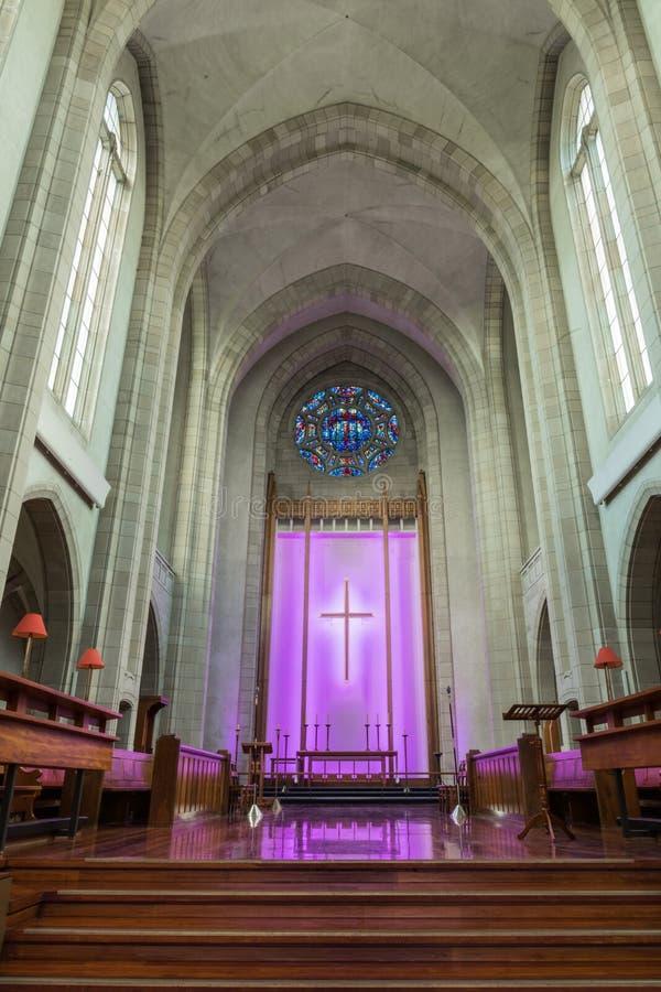 圣坛在老部分三位一体大教堂,奥克兰里 库存图片