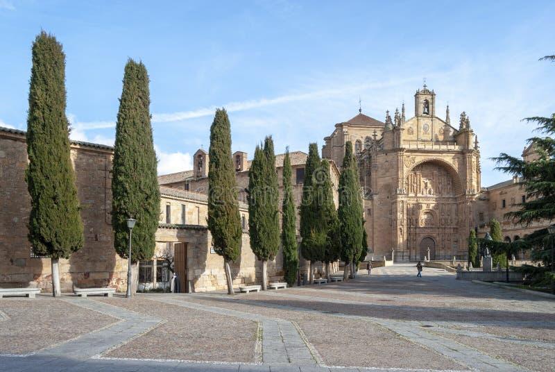 圣埃斯特万女修道院在萨拉曼卡西班牙 免版税库存照片