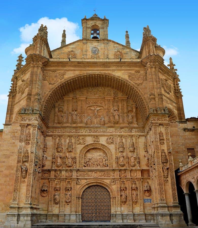 圣埃斯特万女修道院在西班牙的萨拉曼卡 图库摄影