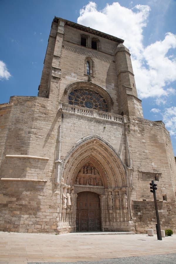 圣埃斯特万教会在布尔戈斯市 图库摄影