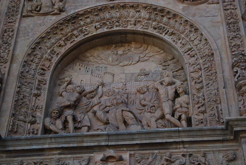 圣埃斯特万细节上半身女修道院  免版税库存照片