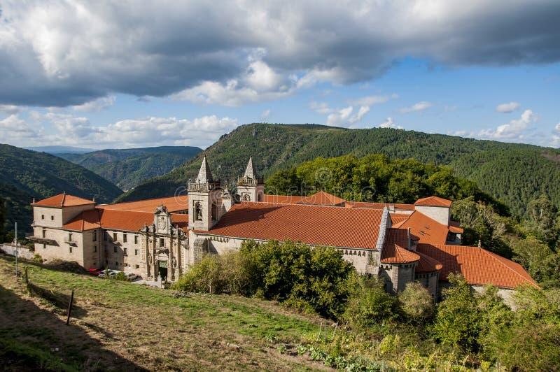 圣埃斯特万sil ribas ` s修道院  库存照片