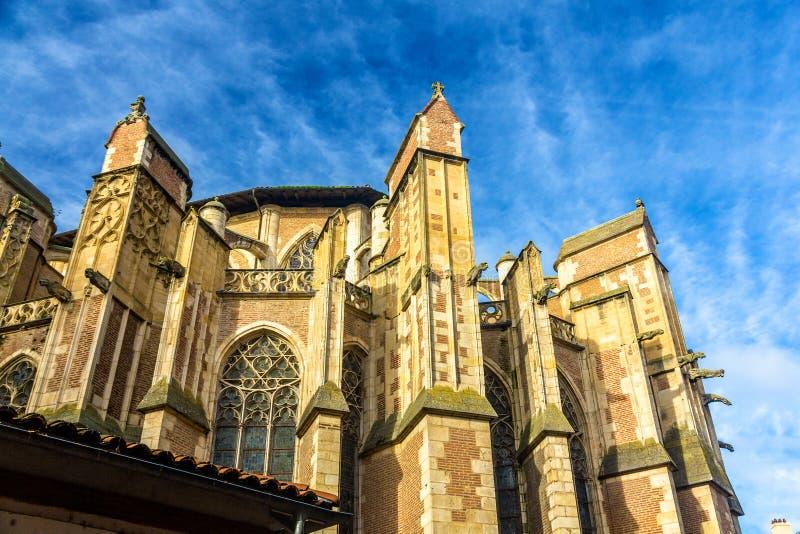 圣埃蒂安大教堂的细节在图卢兹 免版税库存图片