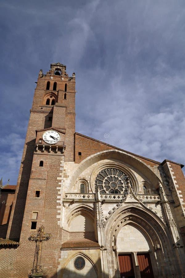 圣埃蒂安教会在图卢兹 图库摄影