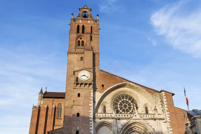 圣埃蒂尼大教堂在图卢兹 免版税图库摄影