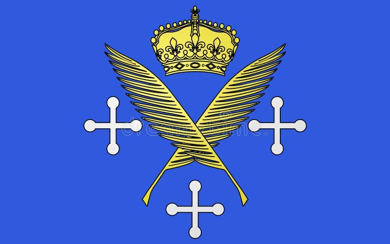 圣埃蒂尼,法国旗子  免版税库存照片